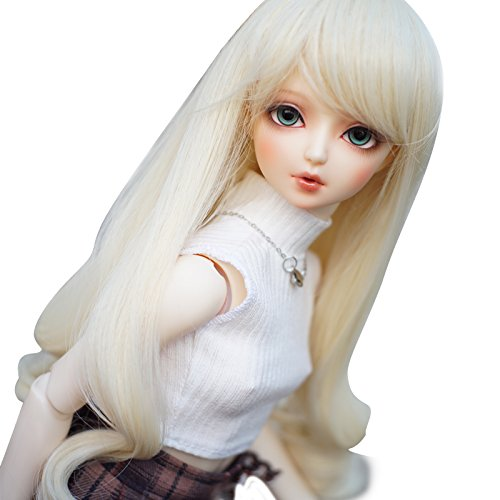 High Temperature Synthetic Fiber Long Curly Hair Wig for 1/4 BJD SD Doll by MUZI Wig