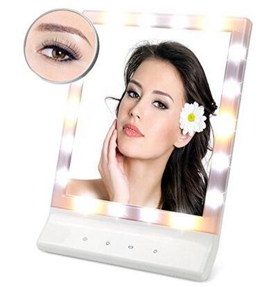 besky led multiple illumination settings touch screen led lighted makeup mirror led lighted. Black Bedroom Furniture Sets. Home Design Ideas