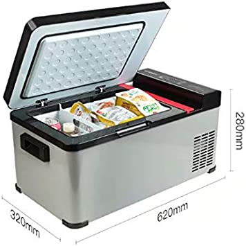 HSTFⓇ Compresor portátil Frigorífico, 12 V / 24 V - Gris/Negro, 17.3 litros de litros y Uso en el hogar62 * 32 * 28 cm