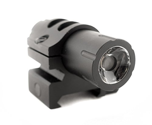 100 Lumens Ultra-Compact Flashlight with Rail Mount and Detachable Remote Pressure Switch (Black)