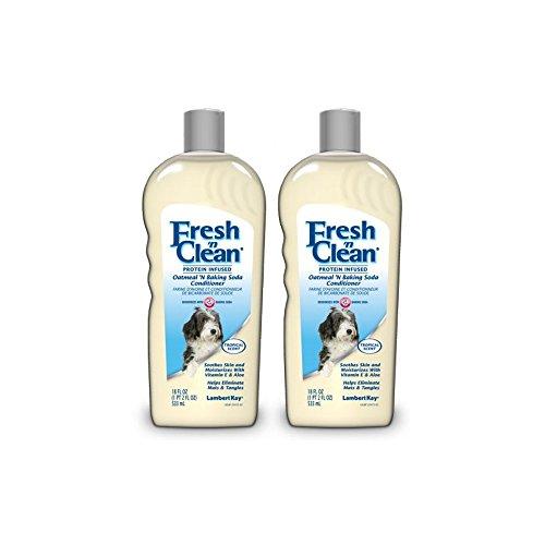 Fresh 'n Clean | Protein Infused | Oatmeal 'N Baking Soda Conditioner - 18 FL OZ (Pack of 2) (Lambert Oatmeal Kay)