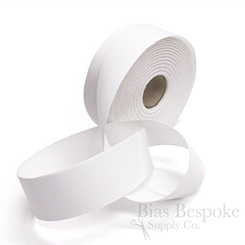 20 Meter Roll of White 100% Cotton Twill Tape, 40mm Wide, Made in Italy