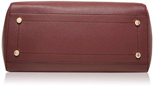 Trussardi Jeans Ischia Tote, Borsa a Mano Donna, 35x40x16 cm (W x H x L) Rosso (Bordeaux)