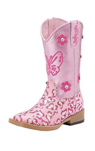 Blazin Roxx Girls' Pecos Glitter Zipper Cowgirl Boot