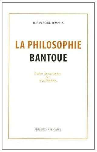 Livre gratuits La philosophie bantoue : Fac-similé de l'édition de Paris 1949 pdf, epub ebook