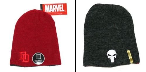 Daredevil Punisher Reversible Beanie Hat Loot Crate Marvel - Import ... e492bd72848