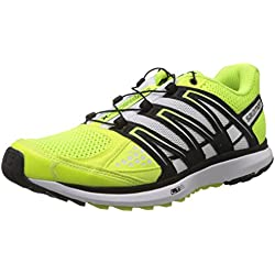 Salomon X-Scream, Scarpe sportive, Uomo, Multicolore (Fluo Yellow/Black/White), 43.33