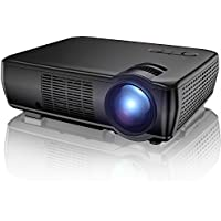 Projector, TENKER Upgrade +33% Lumens Portable Video Projector Mini Home Theater  5.0 LCD Projector with 176 Display Support 1080p HDMI VGA USB AV for Out door & Indoor Movie Nights, Video Games