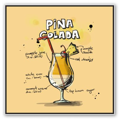 Pina Colada Mixology Vinyl Sticker - Car Phone Helmet - SELECT SIZE