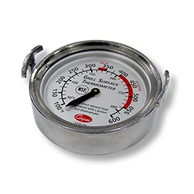 Cooper-Atkins 3210-08-1-E Bi-Metals Grill Thermometer, 100 to 600 degrees F Temperature Range