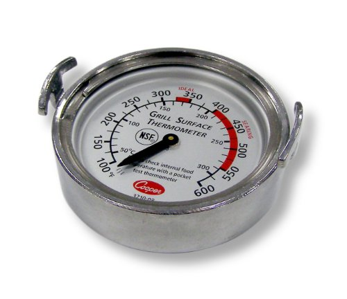 Bi Metal Dial (Cooper-Atkins 3210-08-1-E Grill Thermometer, Griddle Thermometer (Grill Surface Thermometer, Griddle Surface Thermometer))