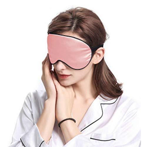 Silk Eye Sleeping Mask, Both Sides 100% Natural Silk Sleep Mask & Blindfold, Super Smooth Night Blindfold with Adjustable Strap for Women Men Travel Nap by Jenleestar