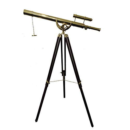 CollectiblesBuy Vintage Floor Standing Brass Telescope Maritime Anchor Master Nautical Sky Watcher from CollectiblesBuy