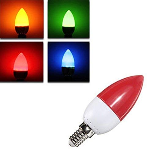 Macerdonia E14 Led Bulbs - E14 5w Led Bulb 10 Smd 2835Colorful Energy SavingCandle Light Chandelier Lamp Ac 220v - Led Bulb Color Changing Light Remote Candle Bulbs Blue - Le
