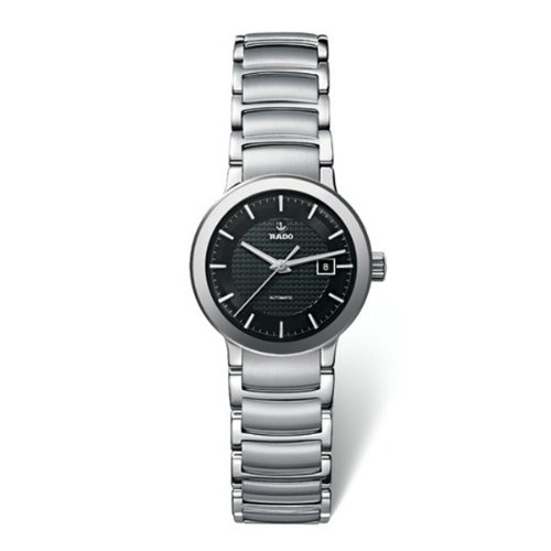 Rado-R30940163-Womens-Centrix-Automatic-Stainless-Steel-Black-Textured-Dial-Watch