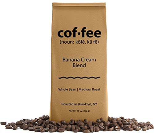 Banana Cream Blend Whole Bean Coffee, Medium Roast, 1-Pound Bag