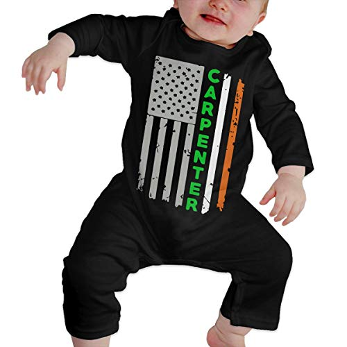 Baby Infant Boy Girls Fashion Carpenter Irish American Flag St. Patrick