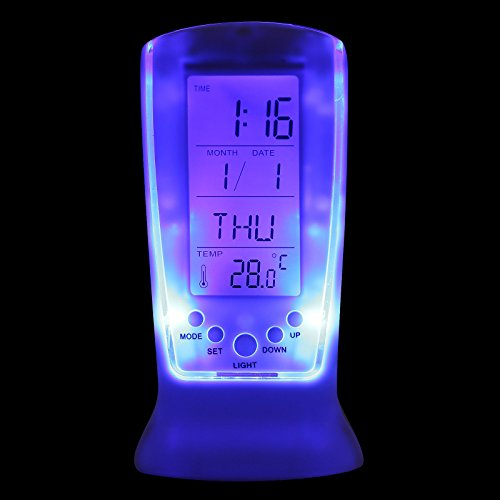 Cool Digital Backlight LED Display Table Alarm Clock Snooze Thermometer Calendar (Golf Alarm Clock)