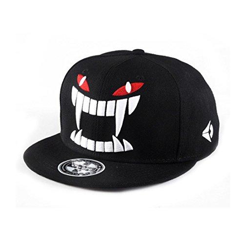 King Star Men Solid Flat Bill Hip Hop Snapback Baseball Cap (Flat Bill Hat Monster)