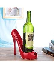 Resin High Heel Shoe Appearance Wine Bottle Holder, Wine Bottle Storage, Safe Eco-Friendly Healthy for Office for Home Bar(White)