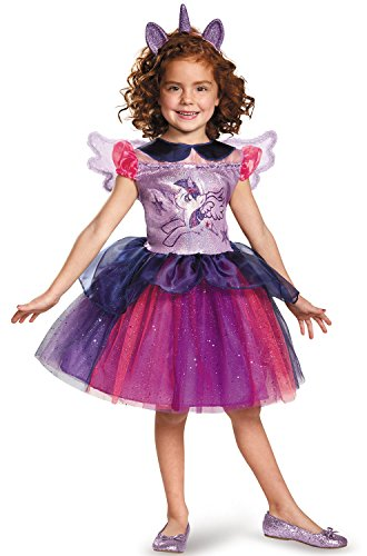 Pony Costumes For Kids (Twilight Sparkle Tutu Deluxe My Little Pony Costume, Small/4-6X)