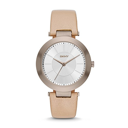 DKNY Women's 'Stanhope' Quartz Stainless Steel and Beige Leather Casual Watch (Model: NY2459)
