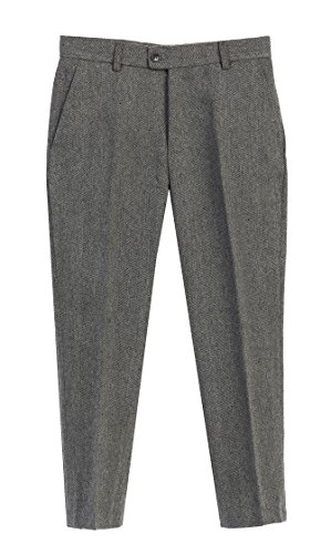 Gioberti Boys 2 Piece Tweed Plaid Vest and Pants Set