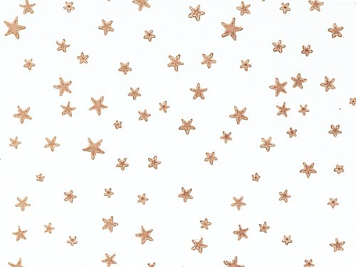 Special Occasion Cello Rolls - 40'' x100' Gold Stars Cello Roll 1.0 mil (2 Rolls) - WRAPS-CR40SG by Miller Supply Inc