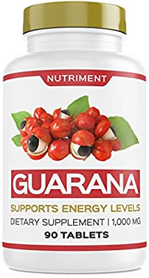 Nutriment Guarana 1000mg Supports Energy Levels and Motivation 90 Tablets