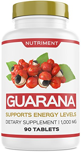 Nutriment Guarana 1000mg Supports Energy Levels and Motivation 90 Tablets -