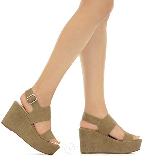Lt Zapatos Dist 6 Gold s Shoes P;atform Women Open 's Wedge MVE Tpe Ankle Size Strap Toe 4vtUqw