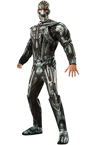 Marvel Rubie's Costume Co Men's Avengers 2 Age Of Ultron Deluxe Adult Ultron Costume, Multi, (Comic Book Character Costumes Male)