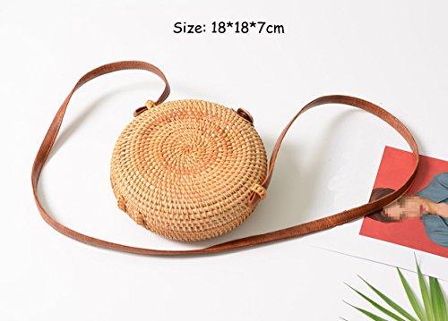 6 5cm 13 Round Fullant Mujer 19 Square Bolso Para Hombro Al q8fnvzW08