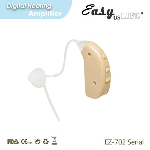 Right Ear Amplifier, Beige Color, By Easyuslife, Hearing amplifier Device With Digital Noise Cancellation – Discreet & Lightweight Ear Amplifying Machine With Volume & Frequency Control System by EASYUSLIFE