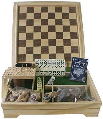 CAL FUSTER - Juegos Reunidos en Caja de Madera. Medidas: 30x30 cm.: Amazon.es: Juguetes y juegos