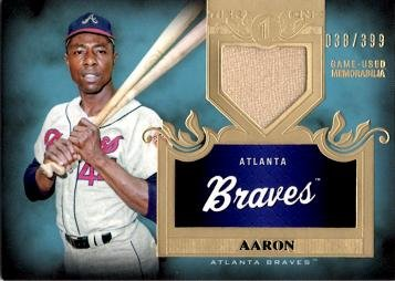 2011 Topps Tier One Tops Shelf Relics #TSR44 Hank Aaron for sale  Delivered anywhere in USA