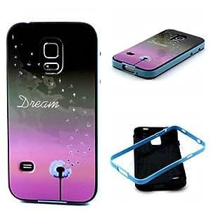 Teléfono Móvil Samsung - Cobertor Posterior - Gráfico/Dibujos Animados/Diseño Especial - para Samsung S5 i9600 ( Multi-color/Púrpura/Azul claro ,