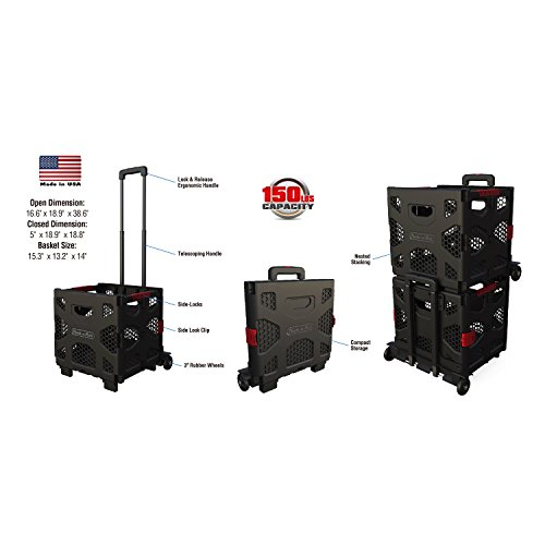 Pack-N-Roll Grand 85-015 Fold up Portable Dolly, 150lbs (Roll Portable Tool Carrier)