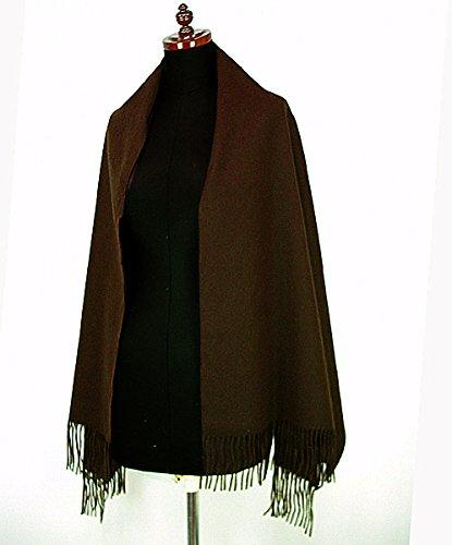 軽くて暖かい大判のカシミヤ100%和装用ショール(着物用ストール)3カラー B009VA5S7A  ブラウン -