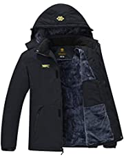 AIRIKE Men's Ski Jacket Coat Winter Warm Fleece Snow Coat Water Resistant Windbreaker Winter Coat