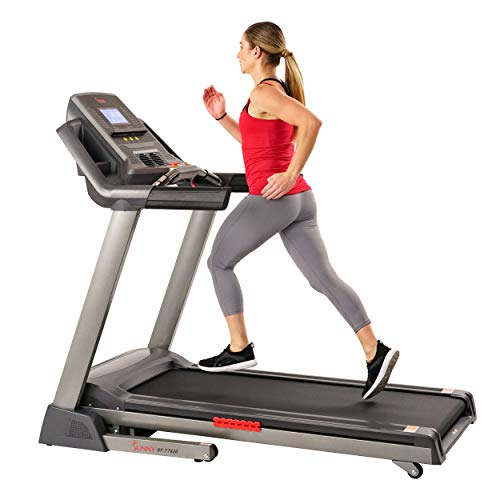 Sunny Health & Fitness Performance Treadmill, High Weight Capacity with 15 Levels of Auto Incline, Pedometer and BMI Body Fat Calculator – SF-T7820