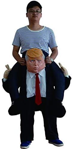 Addio al Celibato o Halloween Perfetto per Il Carnevale Costume per Adulti 165cm-185cm thematys Costume Presidente USA Trump