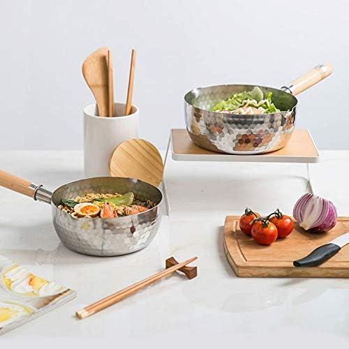 Poêle à lait antiadhésive avec couvercle en verre, casserole de soupe pour aliments à soupe et à fond plat, casserole pour nouilles au supplément de cuisson (Size : 16cm)