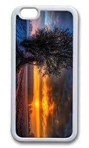 MOKSHOP Adorable frosty sunset Soft Case Protective Shell Cell Phone Cover For Apple Iphone 6 Plus (5.5 Inch) - TPU White