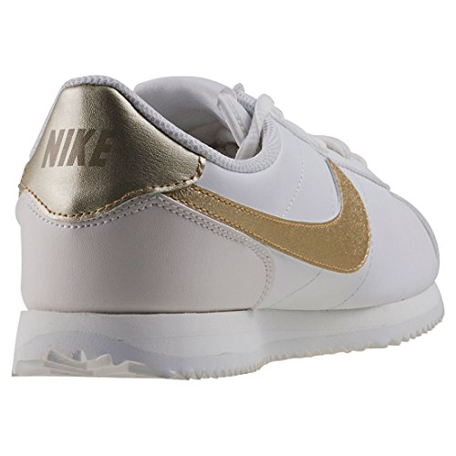 Nike Cortez Unisex Mtlc Adults' White Sigs Star Shoes 105 White White Fitness Summit Gold Basic qqrExd
