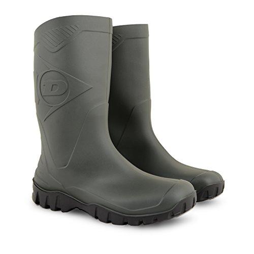 Ladies Womens Wellington Ankle Dunlop Boots Short Calf Green Wellies Wide Waterproof UwqdrHq