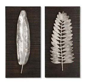 (Uttermost Silver Leaves Wall Art in Dark Ebony Stain (Set of 2))