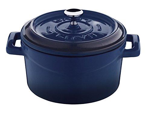 Lava Signature Enameled Cast-Iron Mini Dutch Oven - 12 ounce, Cobalt Blue by Lava Cookware