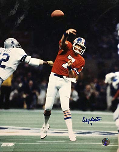 Craig Morton Autographed/Signed Denver Broncos 16x20 Photo Super Bowl ()