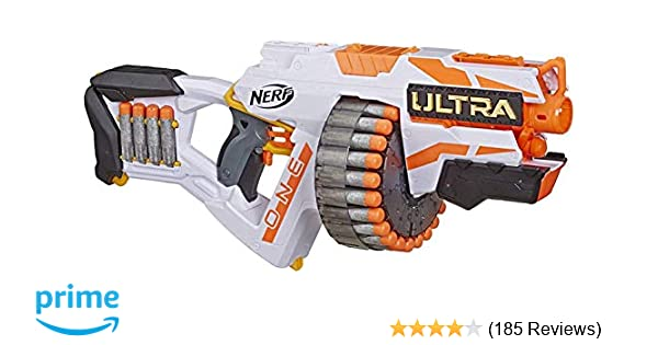 NERF Ultra One Motorized Blaster ,, 25 Ultra Darts ,, Farthest Flying Darts  Ever ,, Compatible Only Ultra One Darts